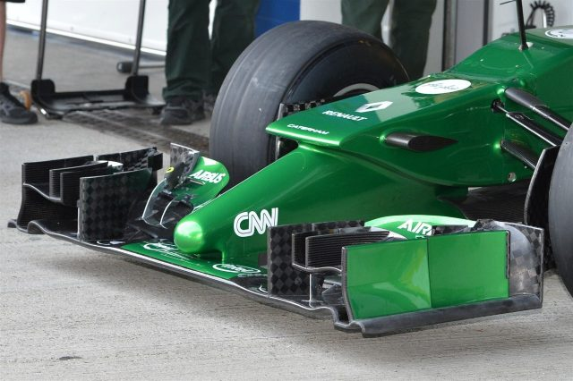 Marcus Ericsson (SWE) Caterham CT05 nose and front wing detail. Formula One Testing, Jerez, Spain, Day One, Tuesday, 28 January 2014. © Sutton Images