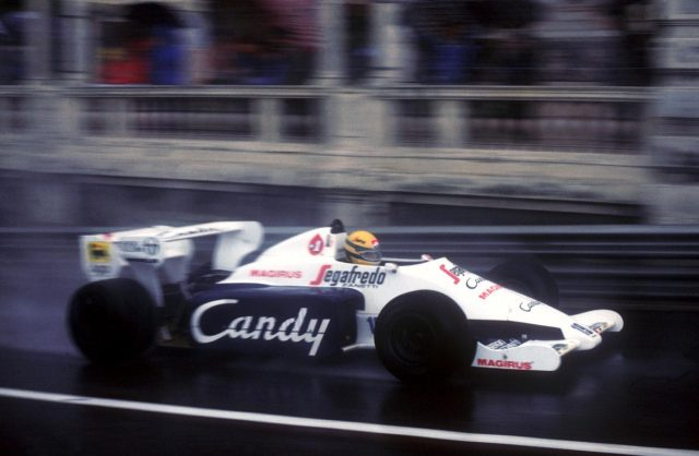 Ayrton Senna(BRA) driving the Hart-powered Toleman to second place in the 1984 Monaco Grand Prix. © Sutton Images