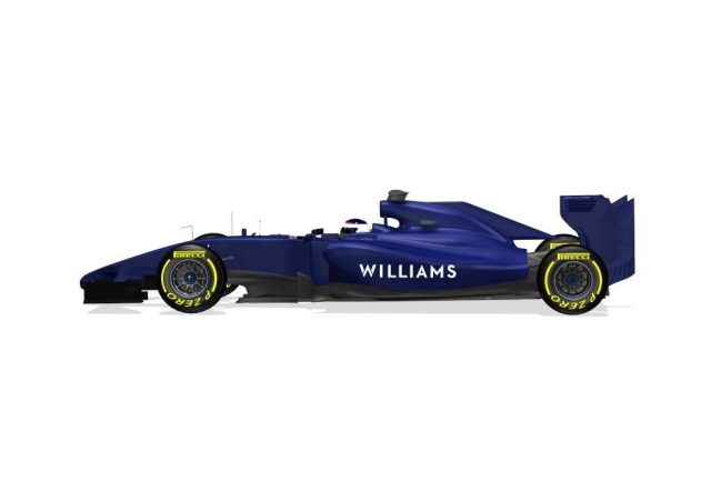 First image of Williams' 2014 car, the Mercedes-powered FW36. © Williams