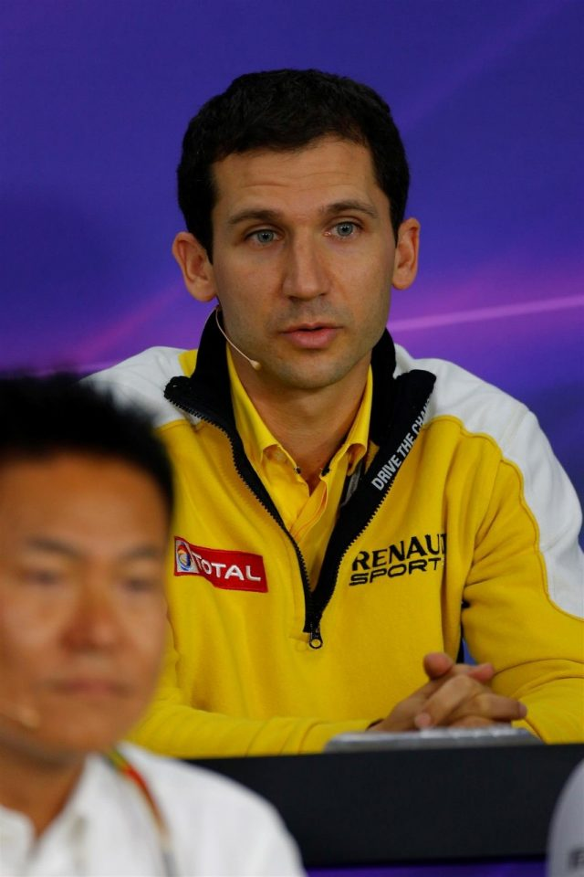 Remi Taffin (FRA) Head of Renault Sport F1 Track Operations in the Press Conference. Formula One World Championship, Rd15, Japanese Grand Prix, Practice, Suzuka, Japan, Friday, 3 October 2014