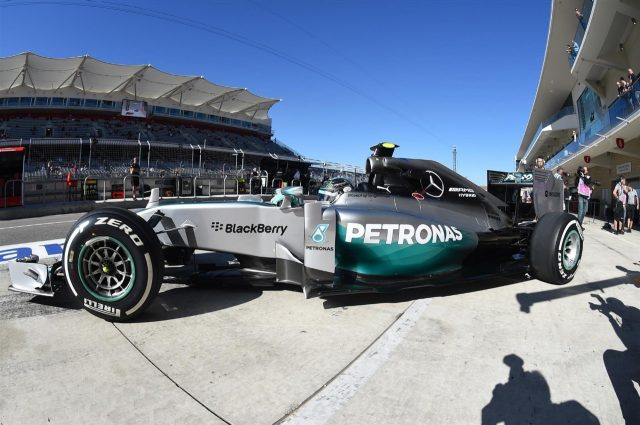 Nico Rosberg (GER) Mercedes AMG F1 W05. Formula One World Championship, Rd17, United States Grand Prix, Practice, Austin, Texas, USA, Friday, 31 October 2014