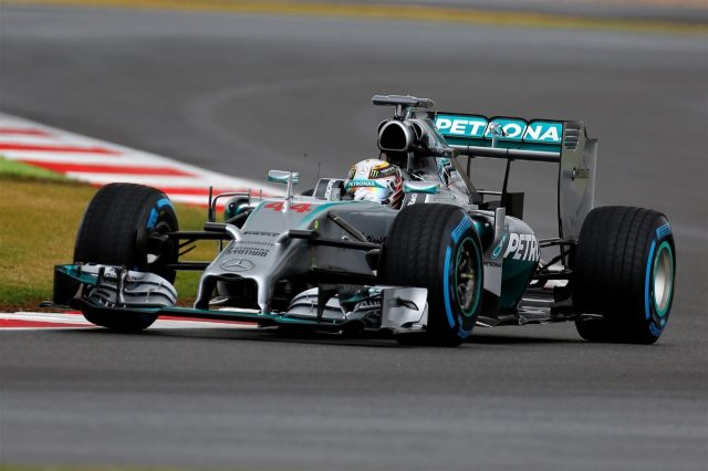 Lewis Hamilton (GBR) Mercedes AMG F1 W05. Formula One World Championship, Rd9, British Grand Prix, Qualifying, Silverstone, England, Saturday, 5 July 2014