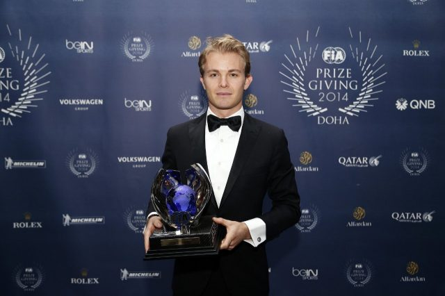 Mercedes' Nico Rosberg during the FIA Prize Giving 2014 on December 5th 2014, at Doha, Qatar. © Jean Michel Le Meur / DPPI