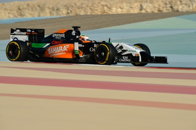 Sergio Perez (MEX) Force India VJM07. Formula One Testing, Day Three, Bahrain International Circuit, Sakhir, Bahrain, Friday, 21 February 2014 © Sutton Images. No reproduction without permission