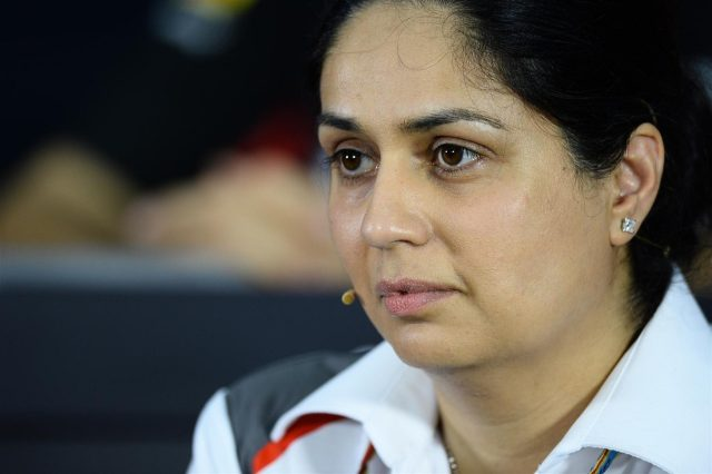 Monisha Kaltenborn (AUT) Sauber Team Prinicpal in the Press Conference. Formula One World Championship, Rd2, Malaysian Grand Prix, Practice, Sepang, Malaysia, Friday, 28 March 2014. © Sutton Images