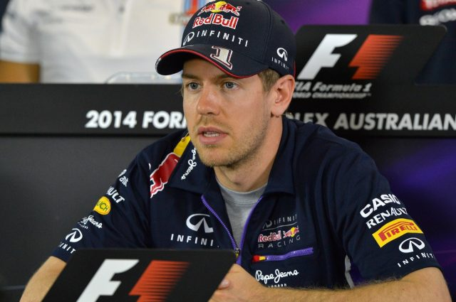Sebastian Vettel (GER) Red Bull Racing in the Press Conference. Formula One World Championship, Rd1, Australian Grand Prix, Preparations, Albert Park, Melbourne, Australia, Thursday, 13 March 2014 © Sutton Images. No reproduction without permission