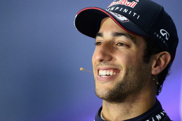 Daniel Ricciardo (AUS) Red Bull Racing in the Press Conference.