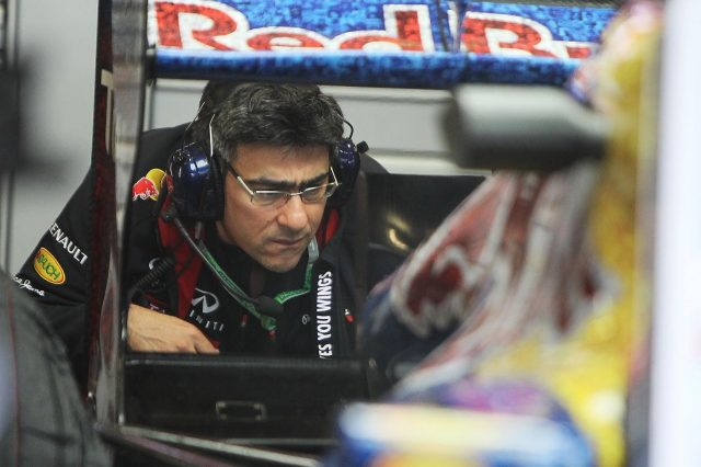 Peter Prodromou (GBR) Red Bull Racing Head of Aerodynamics. Formula One World Championship, Rd9, British Grand Prix, Race, Silverstone, England, Friday, 6 July 2012. © Sutton Images