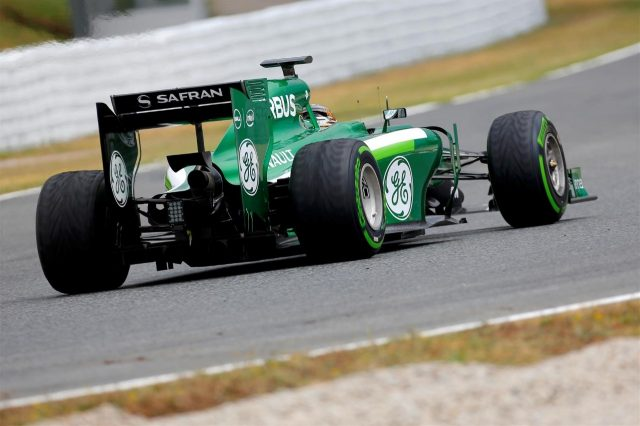 Kamui Kobayashi (JPN) Caterham CT05. Formula One Testing, Day One, Barcelona, Spain, Tuesday, 13 May 2014. © Sutton Images