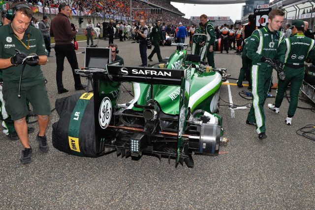 Caterham CT05 on the grid. Formula One World Championship, Rd4, Chinese Grand Prix, Race, Shanghai, China, Sunday, 20 April 2014. © Sutton Images