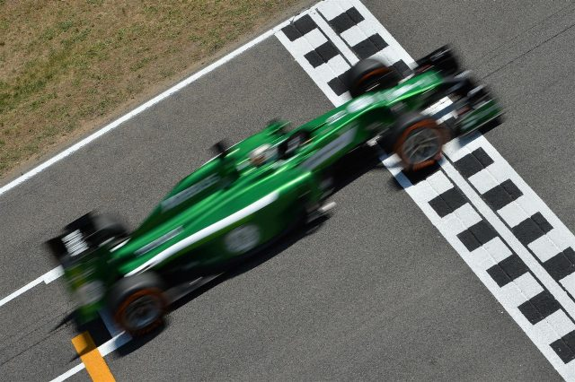 Kamui Kobayashi (JPN) Caterham CT05. Formula One World Championship, Rd5, Spanish Grand Prix, Practice, Barcelona, Spain, Friday, 9 May 2014. © Sutton Images