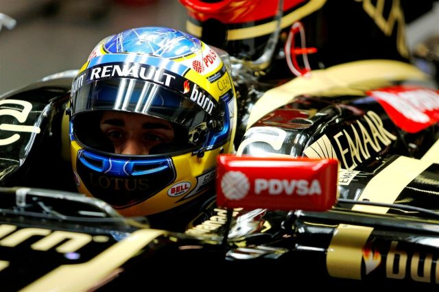 Charles Pic (FRA) Lotus E22. Formula One Testing, Day One, Barcelona, Spain, Tuesday, 13 May 2014. © Sutton Images