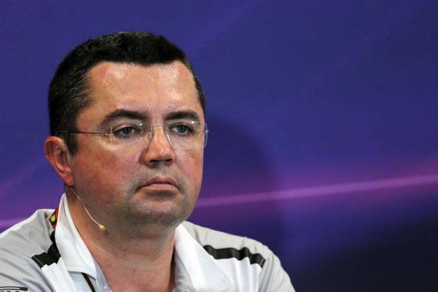 Eric Boullier (FRA) McLaren Racing Director in the team principals Press Conference. Formula One World Championship, Rd6, Monaco Grand Prix, Practice, Monte-Carlo, Monaco, Thursday, 22 May 2014. © Sutton Images