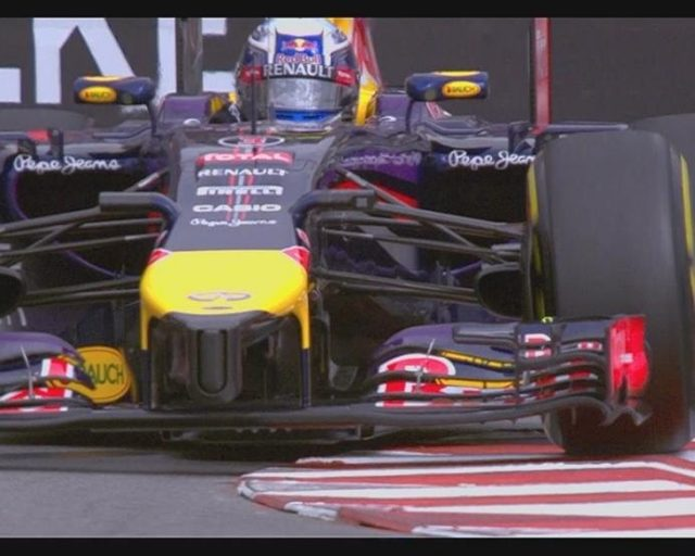 Red Bull's Daniel Ricciardo finds good grip on his soft tyres to go provisionally fastest. © FOWC Ltd
