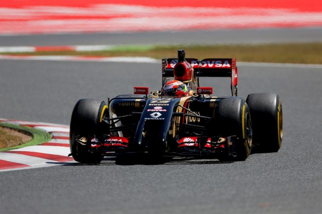 Pastor Maldonado (VEN) Lotus E22. Formula One Testing, Day Two, Barcelona, Spain, Wednesday, 14 May 2014. © Sutton Images