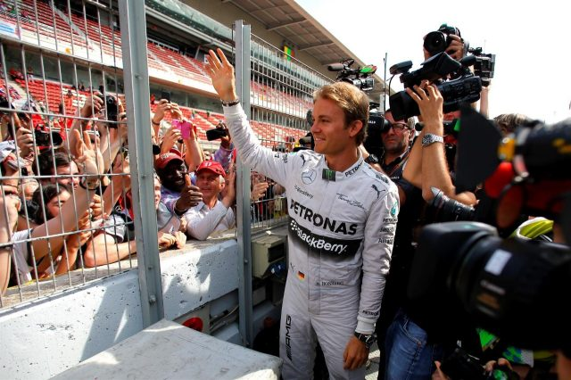 Nico Rosberg (GER) Mercedes AMG F1 meets the fans. Formula One World Championship, Rd5, Spanish Grand Prix, Race, Barcelona, Spain, Sunday, 11 May 2014. © Sutton Images