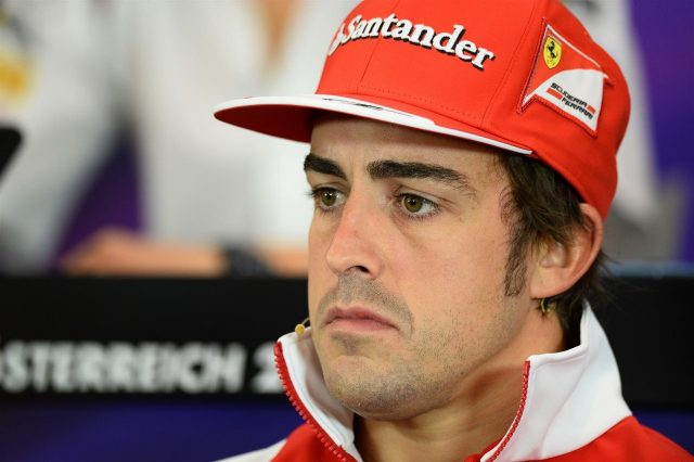 Fernando Alonso (ESP) Ferrari in the Press Conference. Formula One World Championship, Rd8, Austrian Grand Prix, Preparations, Spielberg, Austria, Thursday, 19 June 2014. © Sutton Images