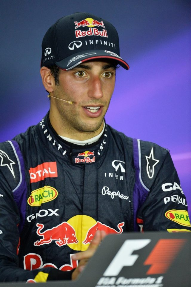 Race winner Daniel Ricciardo (AUS) Red Bull Racing in the post-race Press Conference. Formula One World Championship, Rd7, Canadian Grand Prix, Race Day, Montreal, Canada, Sunday, 8 June 2014. © Sutton Images