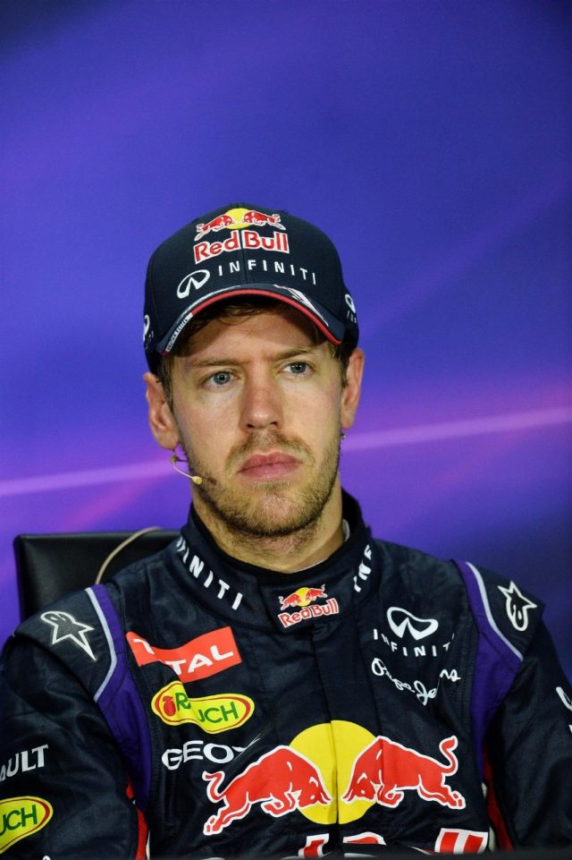 Third placed Sebastian Vettel (GER) Red Bull Racing in the post-race Press Conference. Formula One World Championship, Rd7, Canadian Grand Prix, Race Day, Montreal, Canada, Sunday, 8 June 2014. © Sutton Images