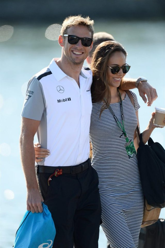 Jenson Button (GBR) McLaren and girlfriend Jessica Michibata (JPN). Formula One World Championship, Rd7, Canadian Grand Prix, Qualifying, Montreal, Canada, Saturday, 7 June 2014. © Sutton Images