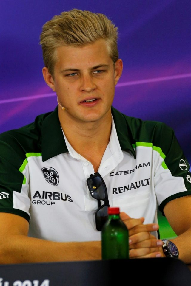 Marcus Ericsson (SWE) Caterham in the Press Conference. Formula One World Championship, Rd11, Hungarian Grand Prix, Preparations, Hungaroring, Hungary. Thursday, 24 July 2014