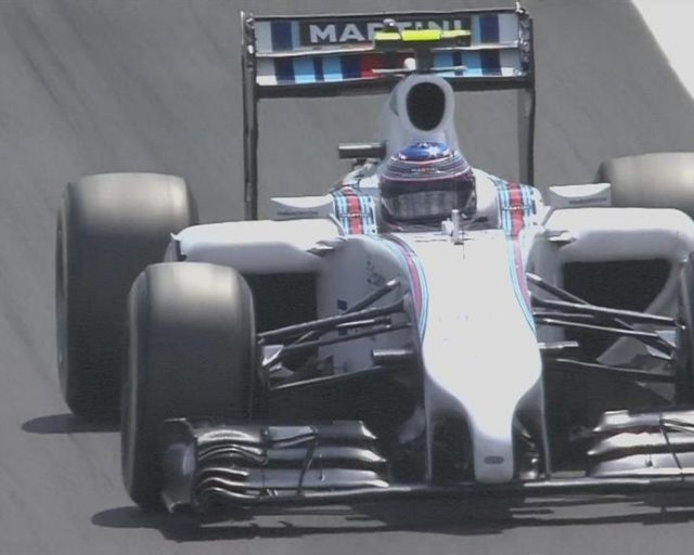 Williams' Valtteri Bottas, who comes into the weekend on a run of three straight podium finishes, continues to impress as he goes third fastest. © FOWC Ltd