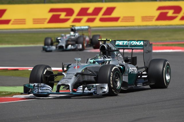 Nico Rosberg (GER) Mercedes AMG F1 W05. Formula One World Championship, Rd9, British Grand Prix, Race Day, Silverstone, England, Sunday, 6 July 2014