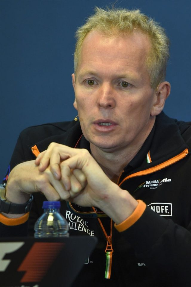 Andy Green (GBR) Force India F1 Technical Director in the Press Conference. Formula One World Championship, Rd12, Belgian Grand Prix, Practice, Spa-Francorchamps, Belgium, Friday, 22 August 2014. © Sutton Images