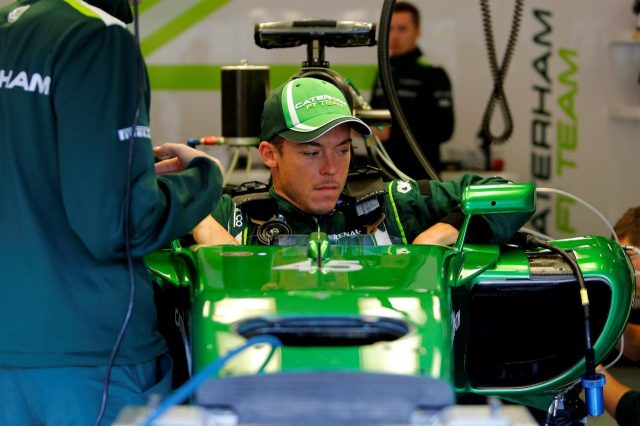 Andre Lotterer (GER) Caterham CT05 seat fitting. Formula One World Championship, Rd12, Belgian Grand Prix, Preparations, Spa-Francorchamps, Belgium, Thursday, 21 August 2014. © Sutton Images