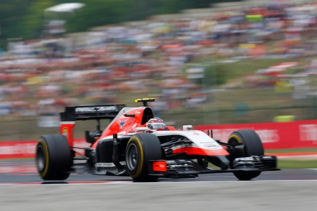 Max Chilton (GBR) Marussia F1 Team MR03. Formula One World Championship, Rd11, Hungarian Grand Prix, Race Day, Hungaroring, Hungary. Sunday, 27 July 2014. © Sutton Images