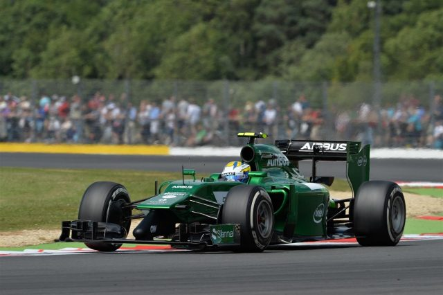 Marcus Ericsson (SWE) Caterham CT05. Formula One World Championship, Rd9, British Grand Prix, Practice, Silverstone, England, Friday, 4 July 2014