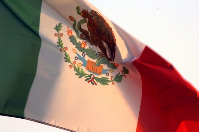 The Mexican flag. 7 October 2005.