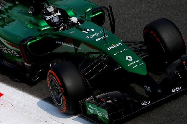 Kamui Kobayashi (JPN) Caterham CT04. Formula One World Championship, Rd13, Italian Grand Prix, Monza, Italy, Practice, Friday, 5 September 2014
