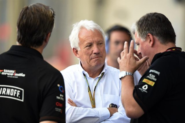 Charlie Whiting (GBR) FIA Delegate and Otmar Szafnauer (USA) Force India Formula One Team Chief Operating Officer. Formula One World Championship, Rd14, Singapore Grand Prix, Marina Bay Street Circuit, Singapore, Practice, Friday, 19 September 2014