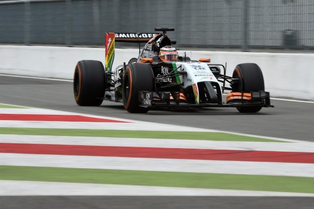 Nico Hulkenberg (GER) Force India VJM07. Formula One World Championship, Rd13, Italian Grand Prix, Monza, Italy, Practice, Friday, 5 September 2014
