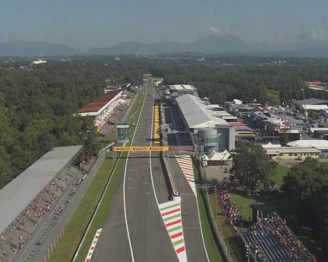 Clear skies and bright sunshine over Monza ahead of the third and final practice session in Italy. © FOWC Ltd