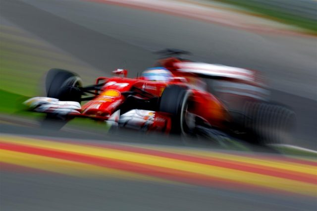 Fernando Alonso (ESP) Ferrari F14 T. Formula One World Championship, Rd12, Belgian Grand Prix, Race Day, Spa-Francorchamps, Belgium, Sunday, 24 August 2014