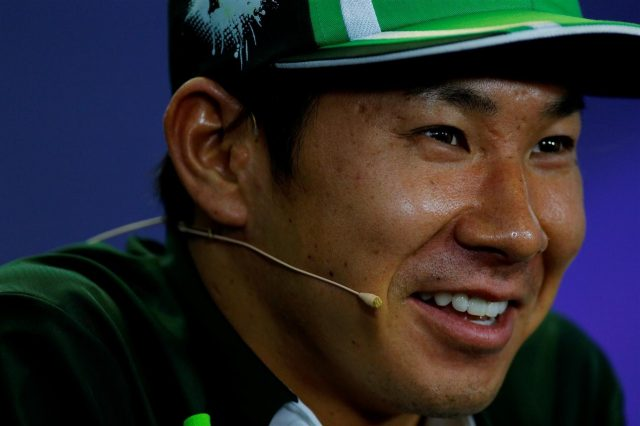 Kamui Kobayashi (JPN) Caterham in the Press Conference. Formula One World Championship, Rd11, Hungarian Grand Prix, Preparations, Hungaroring, Hungary. Thursday, 24 July 2014