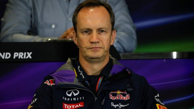 Paul Monaghan (GBR) Red Bull Racing in the press conference at Formula One World Championship, Rd15, Russian Grand Prix, Practice, Sochi Autodrom, Sochi, Krasnodar Krai, Russia, Friday 9 October 2015. &copy&#x3b; Sutton Motorsport Images