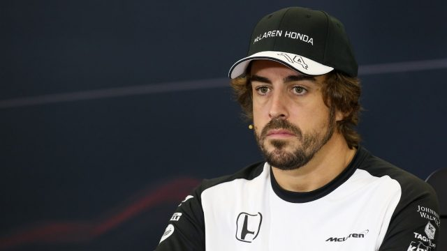 Fernando Alonso (ESP) McLaren at the press conference at Formula One World Championship, Rd17, Mexican Grand Prix, Preparations, Circuit Hermanos Rodriguez, Mexico City, Mexico, Thursday 29 October 2015. &copy&#x3b; Sutton Motorsport Images