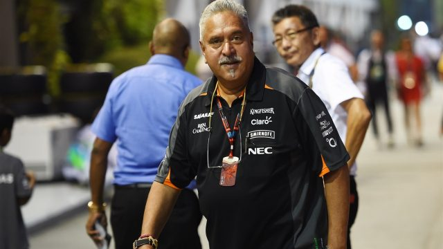 Dr. Vijay Mallya (IND) Force India Formula One Team Owner at Formula One World Championship, Rd13, Singapore Grand Prix, Practice, Marina Bay Street Circuit, Singapore, Friday 18 September 2015. &copy&#x3b; Sutton Motorsport Images