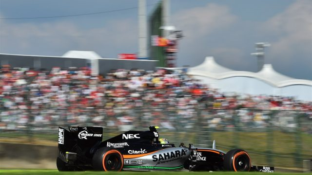 Sergio Perez (MEX) Force India VJM08 at Formula One World Championship, Rd14, Japanese Grand Prix, Race, Suzuka, Japan, Sunday 27 September 2015. &copy&#x3b; Sutton Motorsport Images