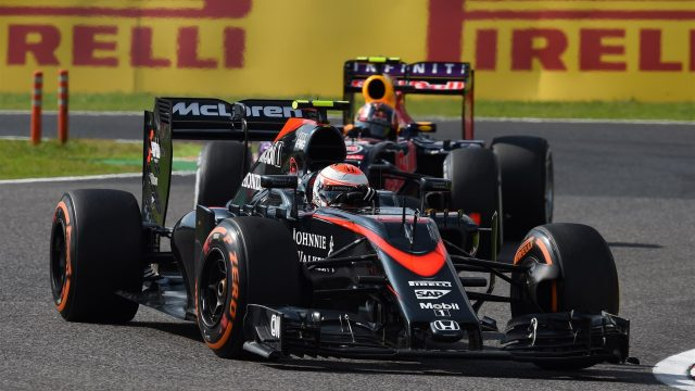 Jenson Button (GBR) McLaren MP4-30 at Formula One World Championship, Rd14, Japanese Grand Prix, Race, Suzuka, Japan, Sunday 27 September 2015. &copy&#x3b; Sutton Motorsport Images