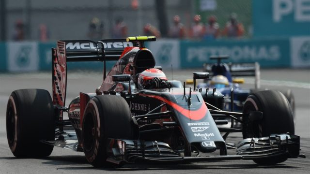 Jenson Button (GBR) McLaren MP4-30 at Formula One World Championship, Rd17, Mexican Grand Prix, Race, Circuit Hermanos Rodriguez, Mexico City, Mexico, Sunday 1  November 2015. &copy&#x3b; Sutton Motorsport Images
