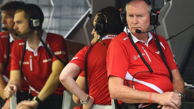 John Booth (GBR) Marussia Team Principal at Formula One World Championship, Rd13, Singapore Grand Prix, Practice, Marina Bay Street Circuit, Singapore, Friday 18 September 2015. &copy&#x3b; Sutton Motorsport Images