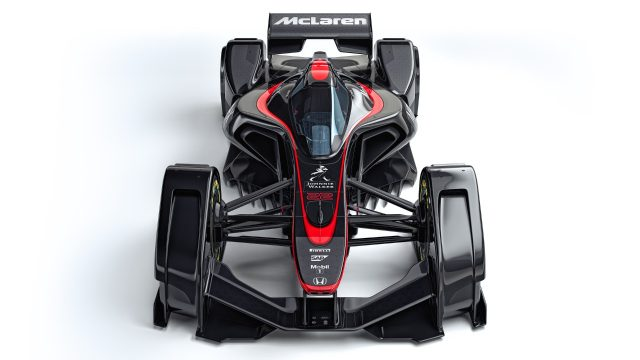 the future of f1 racing mclaren unveil startling new concept car. Black Bedroom Furniture Sets. Home Design Ideas