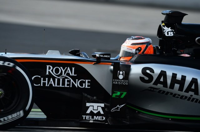 Nico Hulkenberg (GER) Force India VJM08 at Formula One Testing, Day Two, Barcelona, Spain, 27 February 2015.