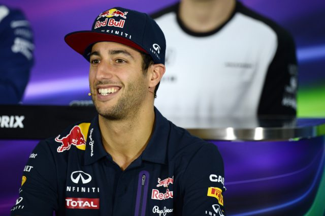 Daniel Ricciardo (AUS) Red Bull Racing during the press conference at Formula One World Championship, Rd1, Australian Grand Prix, Preparations, Albert Park, Melbourne, Australia, Thursday 12 March 2015. &copy&#x3b; Sutton Motorsport Images