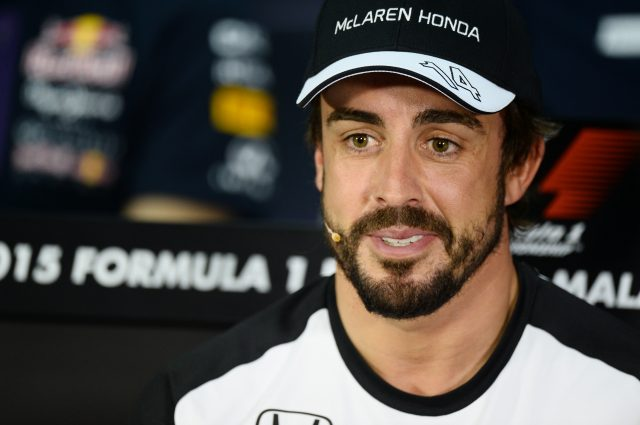Fernando Alonso (ESP) McLaren in the Press Conference at Formula One World Championship, Rd2, Malaysian Grand Prix, Preparations, Sepang, Malaysia, Thursday 26 March 2015. &copy&#x3b; Sutton Motorsport Images