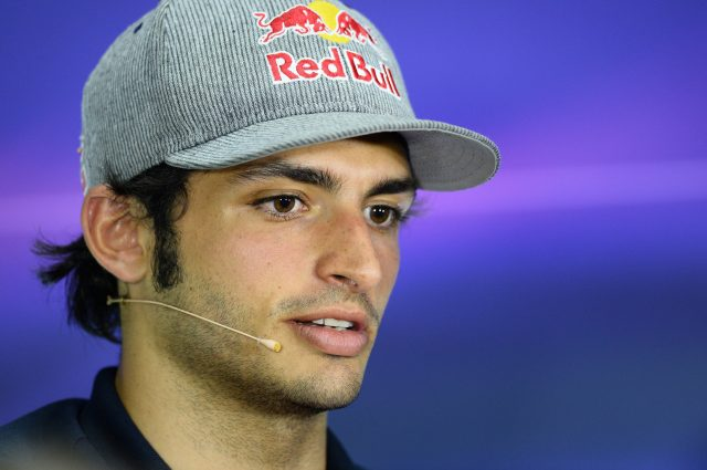 Carlos Sainz jr (ESP) Scuderia Toro Rosso in the Press Conference at Formula One World Championship, Rd2, Malaysian Grand Prix, Preparations, Sepang, Malaysia, Thursday 26 March 2015. &copy&#x3b; Sutton Motorsport Images